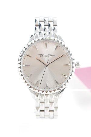 Thomas Sabo Uhr mit Metallband silberfarben Glanz-Optik