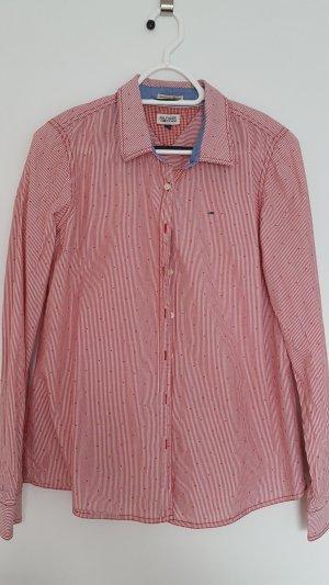Hilfiger Denim Shirt Blouse white-red cotton