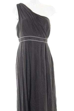 Thread One-Shoulder-Kleid anthrazit-hellgrau Elegant