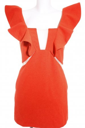 Three Floor Cut-Out-Kleid lachs-wollweiß extravaganter Stil