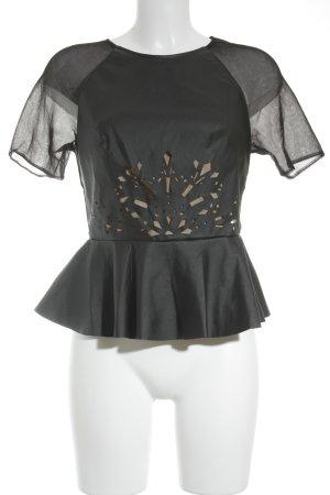 Three Floor Kurzarm-Bluse schwarz Elegant