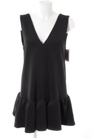 Three Floor Schößchenkleid schwarz Elegant