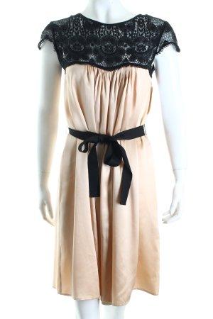 Thurley Kleid schwarz-creme Romantik-Look