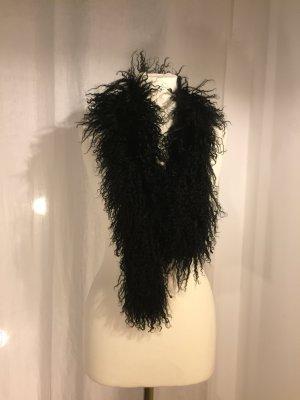 Bufanda de lana negro Lana