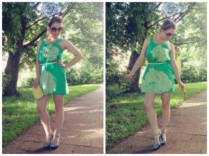 Tibi New York Kleid Gr. 36 S (6) SEIDE Silk grün sommer luxus etui blogger