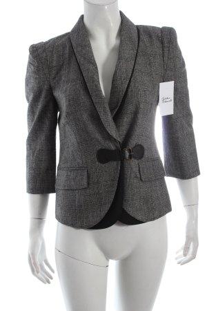 Tibi NYC Kurz-Blazer grau-schwarz Karomuster klassischer Stil