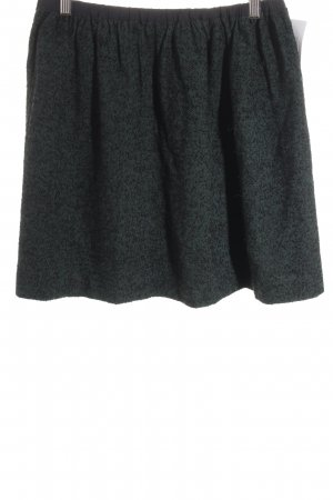 Tibi NYC Wollrock schwarz-dunkelgrün Casual-Look