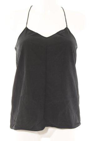 Tibi Haut en soie noir style décontracté