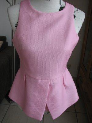 Tibi NYC Haut à volants rose polyester