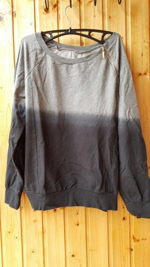 b.p.c. Bonprix Collection Jersey holgados negro-gris Algodón