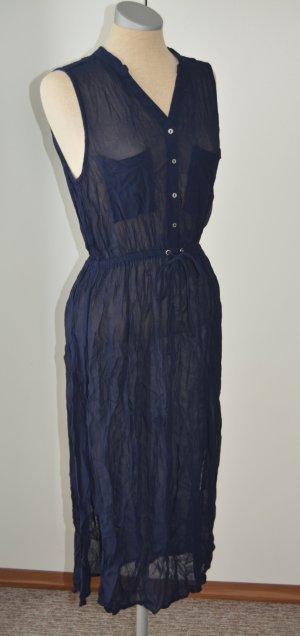 tiefblaues Kleid transparent von River Island  Gr. UK 12 38 40 S M