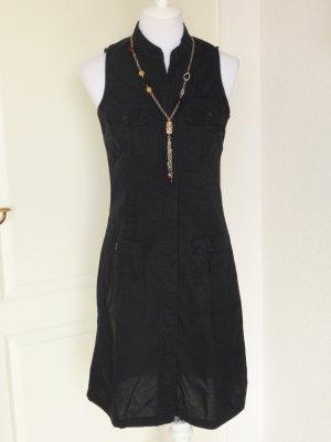 Tiefpreis!:schönes Kleid/Trägerkleid in schwarz, ärmellos,Linon,Gr. S/36