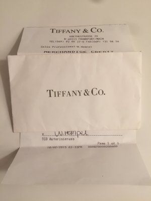 Tiffany and co Gutschein