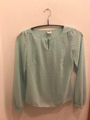 Tiffany-Blaue langarm Bluse
