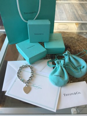 Tiffany & Co Armband | Herz Charm | 100% Original | 925 Silber