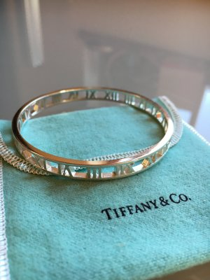 Tiffany & Co Atlas Armreif silber original Sterlingsilber 925