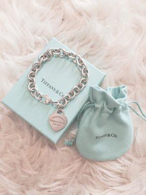 Tiffany & Co. Charm-Armband mit Herzanhänger Blogger Bracelet 925 Sterlingsilber