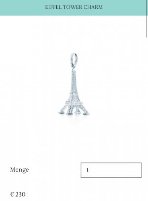 Tiffany & Co Charm Eifelturm