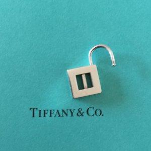 "Tiffany&Co. Charm Lock Schloss, Letter ""I"", 925 Silber T&Co."