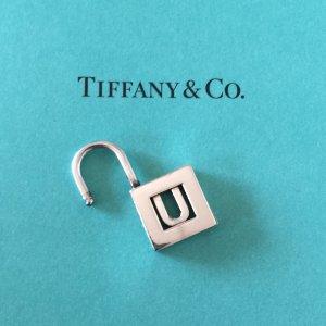 """Tiffany&Co. Charm Lock Schloss, Letter """"U"""", 925 Silber T&Co."""