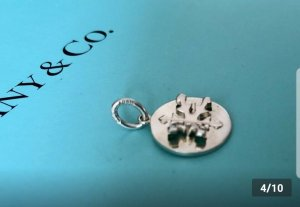 Tiffany&Co Charm silver-colored real silver