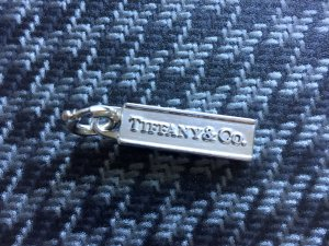 Tiffany & Co. Charm Tag 925 Silber mit runder Öse