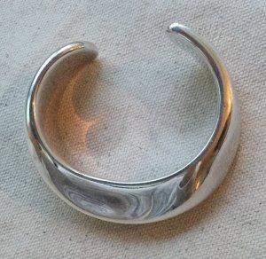Tiffany & Co Elsa Peretti Swirl Cuff Armreif aus 925 Sterling Silber