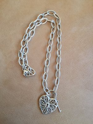 Tiffany & Co. Filigree Heart Halskette Kette Collier, 925 Silber