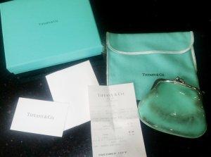 Tiffany & Co Geldbörse Portemonnaie Kleingeld türkis silber mit Rechnung