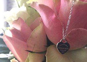 Tiffany & Co. Herz Anhänger Mini (XS) AG925, mit feinem Silberkettchen