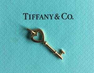 Tiffany & Co. Herzschlüssel Herz Schlüssel Anhänger, 18 Karat, 750 Gold