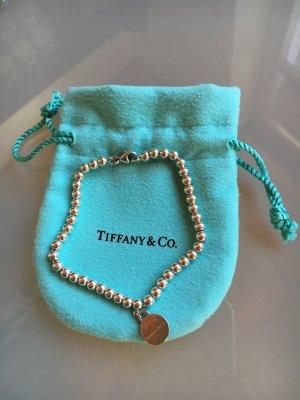 Tiffany & Co Kette Armkette Armband mit Silberperlen und rundem Anhänger Silber 925
