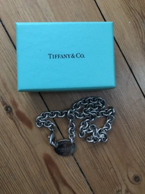 Tiffany & Co Kette Collier 925 Silber Dog Tag Halskette