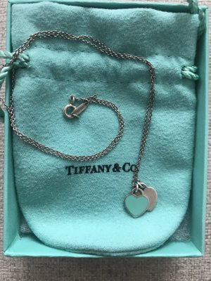 Tiffany & Co Kette Mini-Doppelherz Türkis