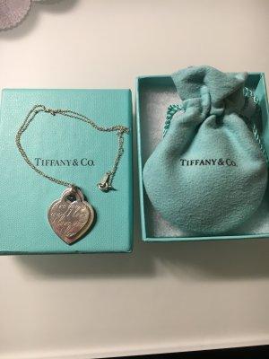 "Tiffany & Co. Kette mit 2 Herzanhänger "" I Love you"""