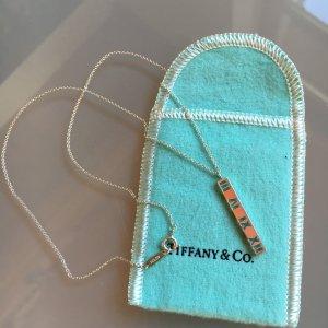 Tiffany & Co Kette mit Atlas Stabanhänger Sterlingsilber echt Silber 925