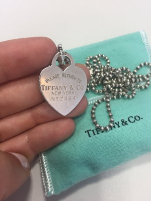Tiffany&Co Kugelhalskette mit Herzanhänger