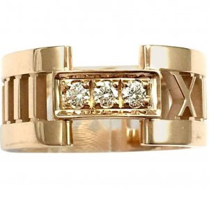 Tiffany & Co Open Atlas Ring 750 Roségold Gr.6,5