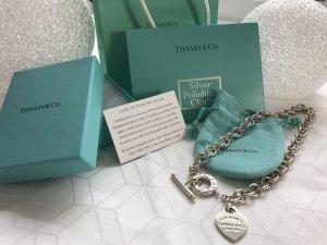 Tiffany & Co Original Sterling Halskette mit Herz und Knebelverschluss