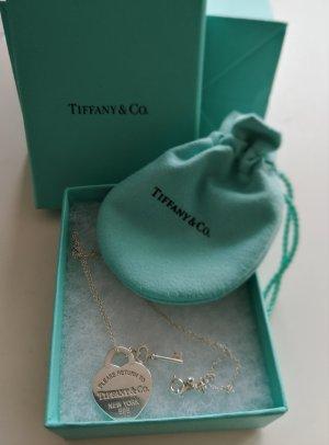 Tiffany & Co. Please Return To Tiffany Kette Herzanhänger mit Schlüssel