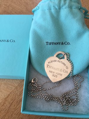 Tiffany & Co. Return to Tiffany lange Kette mit Large Tiffany-Blau Emaille-Herz