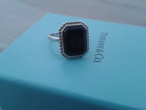 Tiffany & Co. Ring Onyx -1xgetragen-