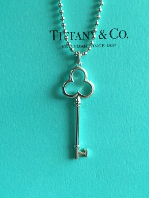 Tiffany & Co. Schlüssel Anhänger Kleeblattschlüssel, 925 Silber