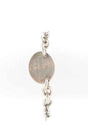 Tiffany&Co Silberarmschmuck silberfarben Metall-Optik