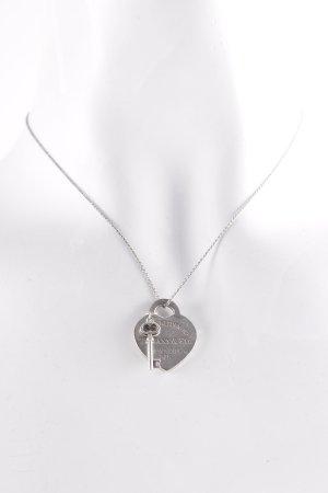 Tiffany&Co Cadena de plata color plata elegante