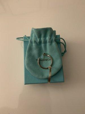 Tiffany&Co Ear Hoops light grey real silver