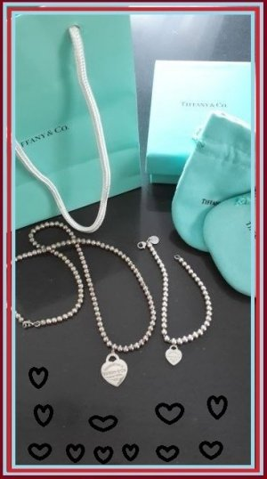 Tiffany&Co Collar color plata-turquesa plata verdadero