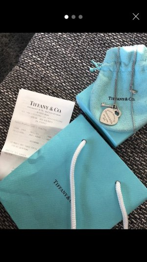 Tiffany Heart Tag with Key Pendant / Kette / Necklace