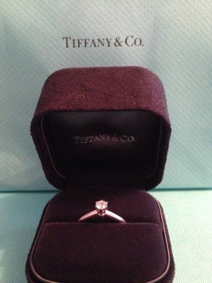 Tiffany Setting Diamantring mit Brilliantschliff