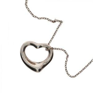 Tiffany und Co. Halskette Offenes Herz Silber von Elsa Peretti